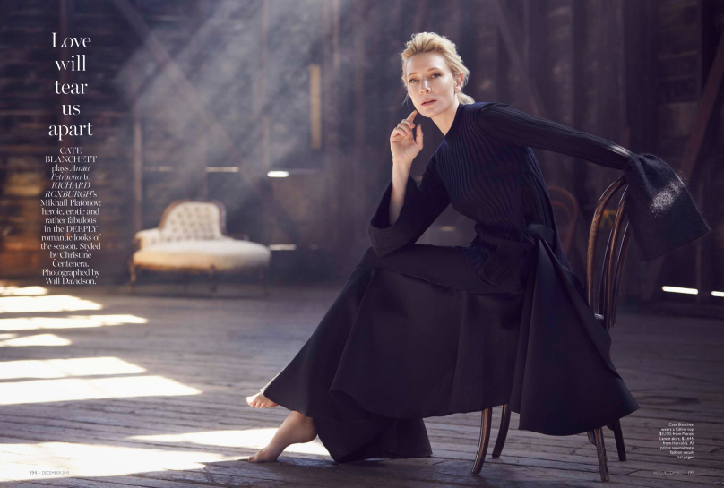 MAP - News – Will Davidson Shoots Cate Blanchett and Richard Roxburgh for Vogue Australia Cover ...