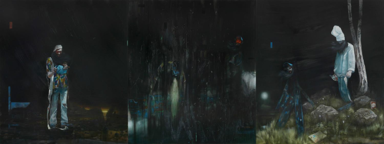 Departure (Triptych) – Nigel Cooke