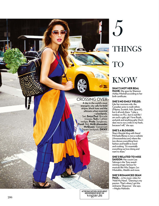 Vogue India / Shay Mitchell — Sarah Laird & Good Company